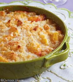 Nectarine Crisp Cobblers THIS IS AN EASY RECIPE AND ONE THAT YOU WILL REALLY LOVE TO SHARE WITH ALL YOUR FAMILY AND FRIENDS...ENJOY
