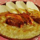 Šenkérska kapusta • recept • bonvivani.sk Slovak Recipes, Czech Recipes, Ethnic Recipes, Hummus, Ham, Cabbage, Good Food, Pork, Food And Drink