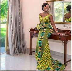 African Lace Styles, African Lace Dresses, Latest African Fashion Dresses, African Inspired Fashion, African Print Fashion, African Style, African Clothes, Kente Dress, Ankara Skirt And Blouse