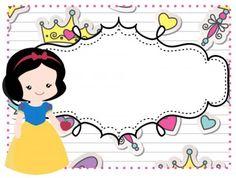 Marcos niñas (7) Printable Name Tags, Printable Labels, Printable Stickers, Snow White Birthday, Book Labels, School Labels, Classroom Labels, School Clipart, Elmo Party