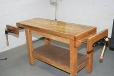 49 Free DIY Workbench Plans & Ideas to Kickstart Your Woodworking Journey. workbench diy garages Remain to the item at the photo web link. Woodworking Bench Plans, Beginner Woodworking Projects, Learn Woodworking, Popular Woodworking, Woodworking Furniture, Furniture Plans, Wood Furniture, Woodworking Videos, Wood Plans