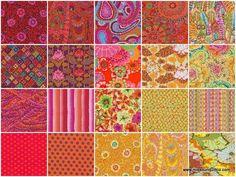 Kaffe Fassett Collective Hot Jelly Roll - Kaffe Fassett - Rowan Fabrics