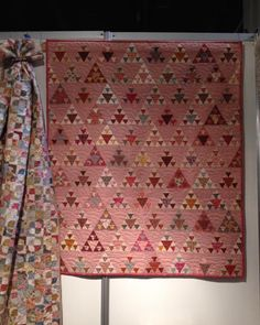 Triangle Quilts, Hexagon Quilt, Hexagons, Triangles, Pink Quilts, Scrappy Quilts, Antique Quilts, Vintage Quilts, Patch Quilt