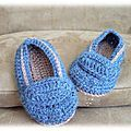 Wabaki : encore des petits chaussons de bébé au crochet