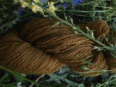 Natural plant dyed wool yarn copper brown FINGERING sock yarn weight. Organic. Suitable for knitting tablet weaving, crochet and nalbinding.