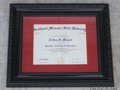 Diploma Display On Pinterest Diploma Frame Award