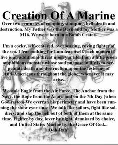 USMC Marine Corps Quotes, Marine Corps Tattoos, Marine Corps Humor, Usmc Quotes, Us Marine Corps, Marine Tattoo, Usmc Tattoos, Quotes Quotes, Military Quotes