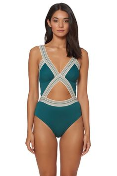 470524d0cc439 Dolce Vita Ribbed Cutout One Piece Swimsuit Size Medium New  fashion   clothing  shoes