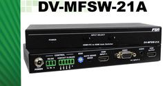 The DV-MFSW-21A is a HDMI + VGA & Audio to HDMI switcher. This switcher has 1 HDMI input supporting resolutions up to 4k x 2k @30Hz and 1 VGA (HD-15) input supporting resolutions up to 1920 x 1200 @ 60Hz.
