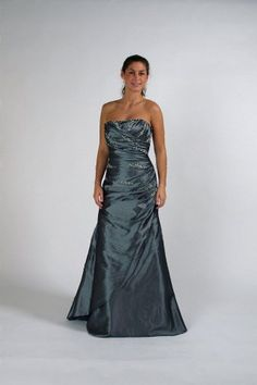 Fashionable Beaded Taffeta Gowns for Bridesmaid