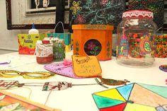 Frascos con decoupage, cajas para galletas y porta lápices de vidrios
