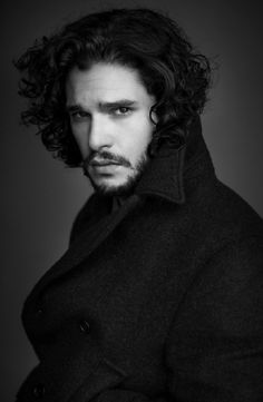 Kit Harrington - I definitely prefer him with the long hair and scruffy look. But he's still gorgeous no matter what ;)