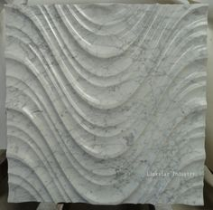 Decorative cnc natural white carrara stone feature wall cladding will provide the designer a new way to create a gorgeous architecture. Stone Wall Panels, Wall Panel Design, 3d Wall Panels, Panel Wall Art, Marble Wall, Wall Tiles, Stone Feature Wall, Kitchen Arrangement, Natural Stone Fireplaces