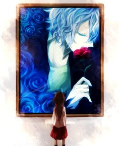 Hate this ending </3  But at least he is kissing her rose! :3 Still....  ;___;  DAMN YOU MARY I WILL FIND YOU AND BURN YOU DOWN... if Ib hadn't done it already...