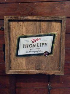 Beer Can on Barn Wood