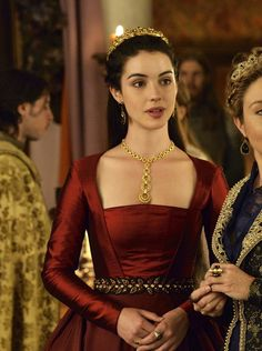 """the-garden-of-delights: """"Adelaide Kane as Mary, Queen of Scots in Reign (TV Series, [x] """" Queen Mary Reign, Mary Queen Of Scots, Red Queen, Reign Fashion, Fashion Tv, Adelaide Kane, Marie Stuart, Reign Dresses, Royal Look"""
