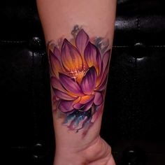 Beautiful looking and with a rich symbolism behind, lotus tattoos are absolutely gorgeous. Here you'll find everything you need to know about a lotus tattoo and some awesome imagery for inspiration. Body Art Tattoos, Forearm Tattoos, Sleeve Tattoos, Lotus Tattoo Design, Flower Tattoo Designs, Lotus Flower Tattoo Wrist, Tattoo Henna, Tattoo You, Pretty Tattoos