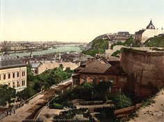 Buda Castle with Danube and Ferenc József Bridge in 1896 - old postcard from the USA National Library Hungary History, Buda Castle, Austro Hungarian, Old Postcards, Old Photos, Paris Skyline, Empire, Washington, Bridge