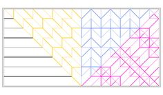 YACCDD (Yet Another Color-Coded Degree Diagram)  Relative Regional 1° (Black) Relative Regional 2° (Yellow) Relative Regional 3° (Blue) Relative Regional 4° (Pink)  There can only be one absolute coloring, but there are many relative colorings based on what you're looking at.  Last one of this model I hope -- I think I've shown everything I want to and I need to actually finish folding the thing!  So, in this one, the degrees are defined by how many types of pleats are present.  If on...