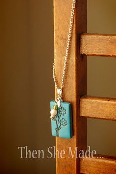 Polymer clay pendant tutorial - made with a rubber stamped image