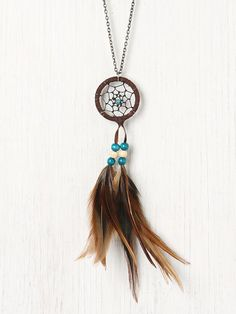 Feather Dream Catcher Necklace