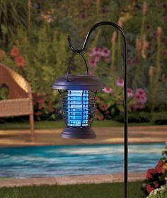 2 In 1 Solar Power Bug Zapper Light Tiger Mosquitos Flies Moths Gnats  Mozzies