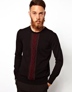 PS+Paul+Smith+Jumper+with+Cable+Panel