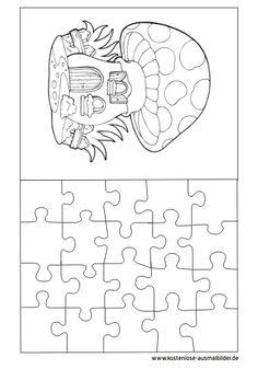 Ausmalbild Puzzle Vorlage
