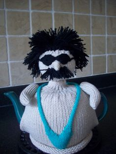 Knitted Tea Cosy  Cosie Cozy  Borat in his green by rosiecosie, £12.99