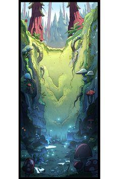 Gravity Falls background art by Elle Michalka animation-art Gravity Falls Gnome, Art Gravity Falls, Gravity Falls Poster, Fall Wallpaper, Halloween Wallpaper, Wallpaper Quotes, Scary Wallpaper, Screen Wallpaper, Wallpaper Backgrounds