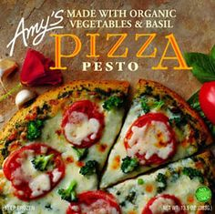 Amy's Kitchen Pesto Pizza - I have one of these at least once a week!  #food #dinner #organic