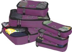 I AM IN LOVE...eBags Value Set: Packing Cubes + 6pc set for $30 www.eBags.com