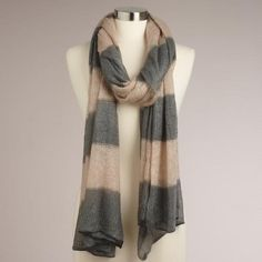 Gray and oat scarf