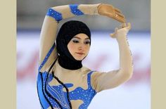 Zahra Lari performs during the figure skating European Cup | Zahra Lari, the 'Ice Princess' in the hijab | Zahra Lari this week made history by becoming the first figure skater from the Gulf to compete in an int'l competition