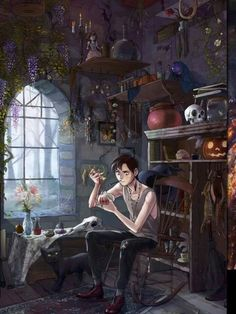 picture prompt: A warlock's work is never done.