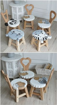 Diy Wooden Projects, Diy Furniture Plans Wood Projects, Baby Furniture, Wood Crafts, Woodworking Projects, Children Furniture, Wooden Furniture, Wooden Decor, Wooden Diy
