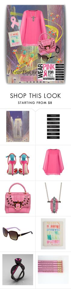 """""""I wear pink for -588"""" by mykt ❤ liked on Polyvore featuring CB2, Gucci, Rock-a-Bye Rosie, Paula Cademartori and Lily Kamper"""