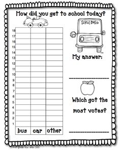 First Grade Blue Skies: Back To School Survival Pack for First Grade