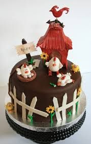 childrens birthday cake for chickens fan Fondant Cake Ideas