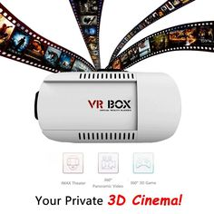 VR BOX 3D Video Glasses-For 4.7 To 6 Inch IOS and Android Smartphone, Adjustable  VR BOX 3D Video Glasses with fully adjustable straps will fit almost anyone.  VR BOX 3D Video Glasses letting you experience the incredible world of 3D with the p...