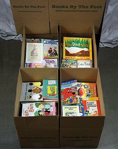 You can order a box of books from this site for $12.99. They will range from toddler to young adult books. Each box contains approximately 150 books (give or take). You can also order more age/grade specific books, but it costs a bit more. There is now an advisory on their site that due to high demand, boxes may not ship for up to 5 weeks, but for $12.99, that's a small price to pay :)