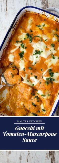 Super schnelle Gnocchi in leckerer Tomaten-Macarpone Soße   #Rezept von malteskitchen.de