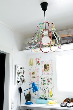 Okay, Internet. You win. You finally convinced me I want to make one of those fabric-wrapped lampshade thingies.