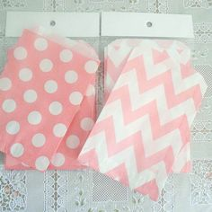 Sweet Pink Polka or Chevrons - Party Favor / Sandwich Bags. $2.85, via Etsy.