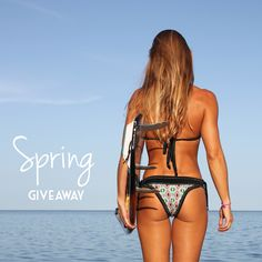 Spring giveaway!  Share with us what you are most passionate about for a chance to win a FREE bikini from the new 2015 Summer Collection! Post a photo tag @mgsurfline and hashtag #WaterPassionate.  The winner will be announced on Monday!  Featured is the Black and Jungle Green bikini with the Hermosa top and Salsa Brava bottoms.