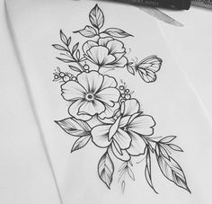 Fandom Quotes, Tattoo Drawings, Flower Drawings, Arm Tattoo, Flower Power, Tatoos, Tatting, Body Art, Piercings