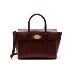 Mulberry - Small New Bayswater in Oxblood Natural Grain Leather