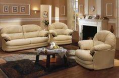 Комплект мягкой мебели Йорк в натуральной коже