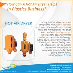 How Can A Hot Air Dryer Helps in Plastics Business? #HotAirDryer #HotAirDryerManufactuer  #HotAirDryerSuppliers  #HotAirDryerTraders #HotAirDryerManufactuerinAhmedabad W:http://www.swiftauxi.com/   M:+91 9724797978
