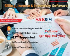 Free Trial!!  Keep stress Free Accounting with our latest features Billing Software Saksham. Comprehensive & GST ready Accounting Software provides beautiful & easy to Invoices designs especially for Indian Markets. Premium & Sleek Inventory option enables you to purchase orders so you create unlimited orders that you can easily turn to bills as needed.  Visit us at: www.saksham.kriscent.in To know more click here : www.kriscent.in Or You may also reach us at: info@kriscent.in Contact us at…